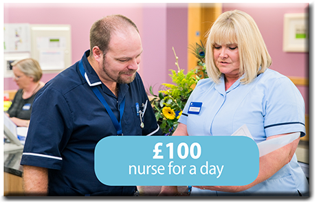 £100 Nurse for a day