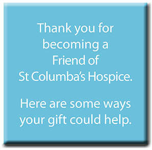Thank you for your support. Here are some ways your gift can help