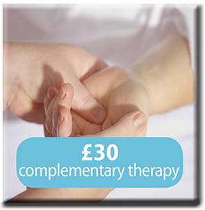 £30 complementary threapy