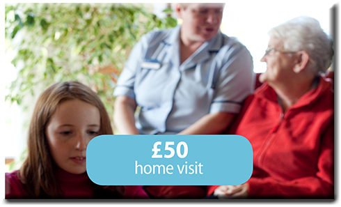 £50 home visit